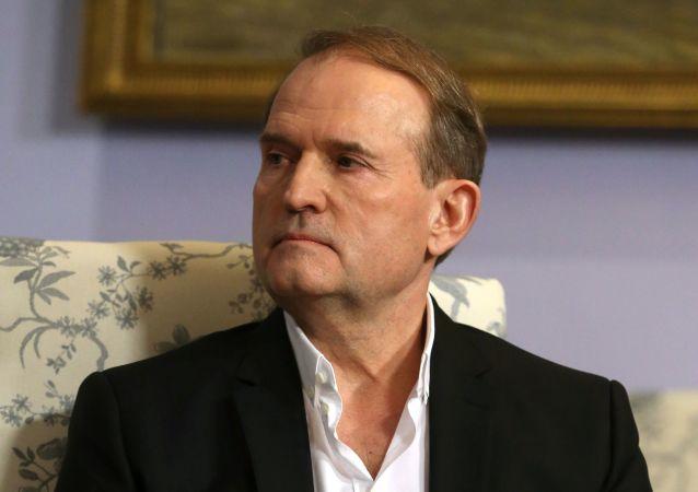 """Przewodniczący rady politycznej ukraińskiej partii """"Platforma opozycyjna - Za życie"""" Wiktor Miedwiedczuk"""