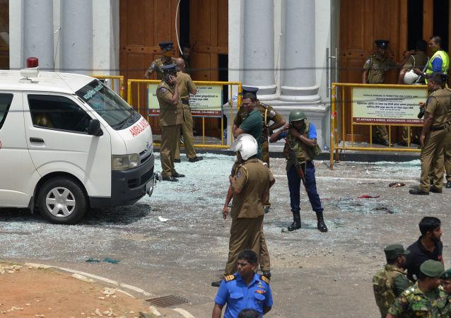 Seria eksplozji na Sri Lance