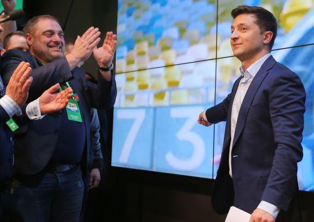 Prezydent elekt Ukrainy Wołodymyr Zełenski