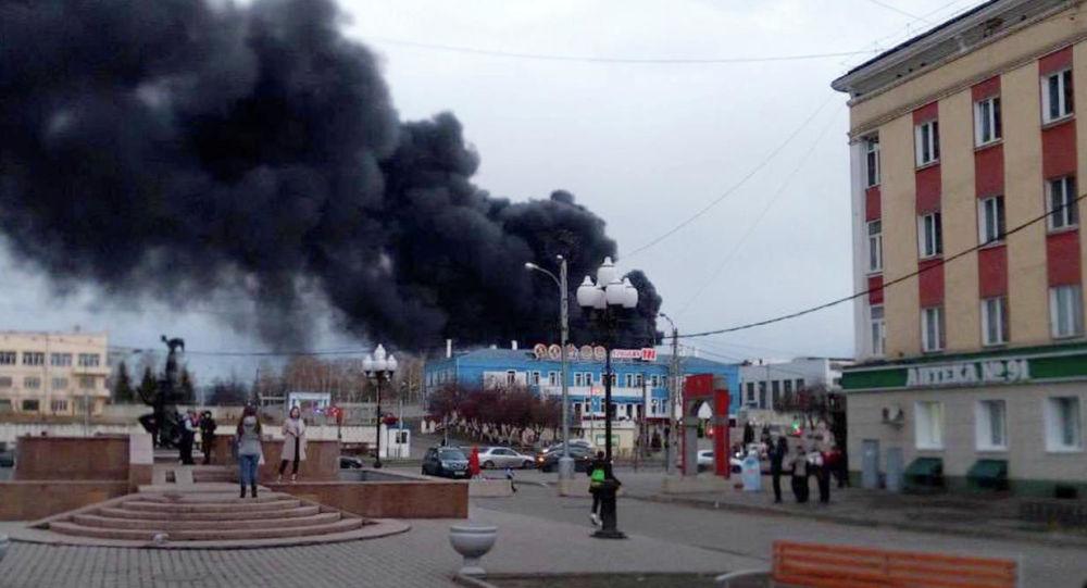 Pożar w zakładzie Krasmasz