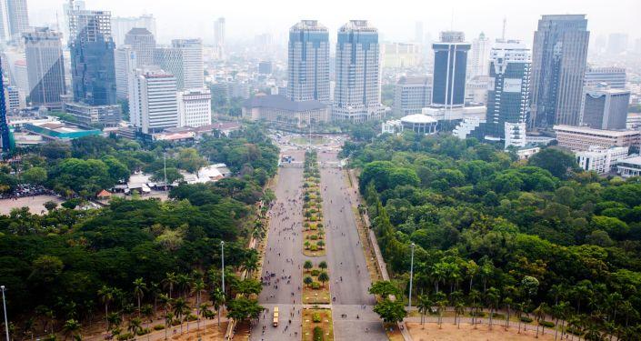 Widok na Dżakartę
