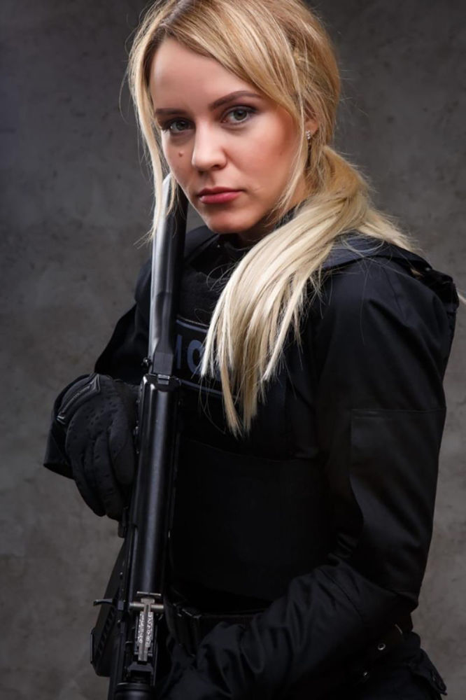 Porucznik policji Anna Jułdaszewa z Kaliningradu