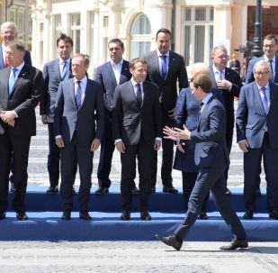 Przywódcy krajów UE na szczycie w Sibiu w Rumunii