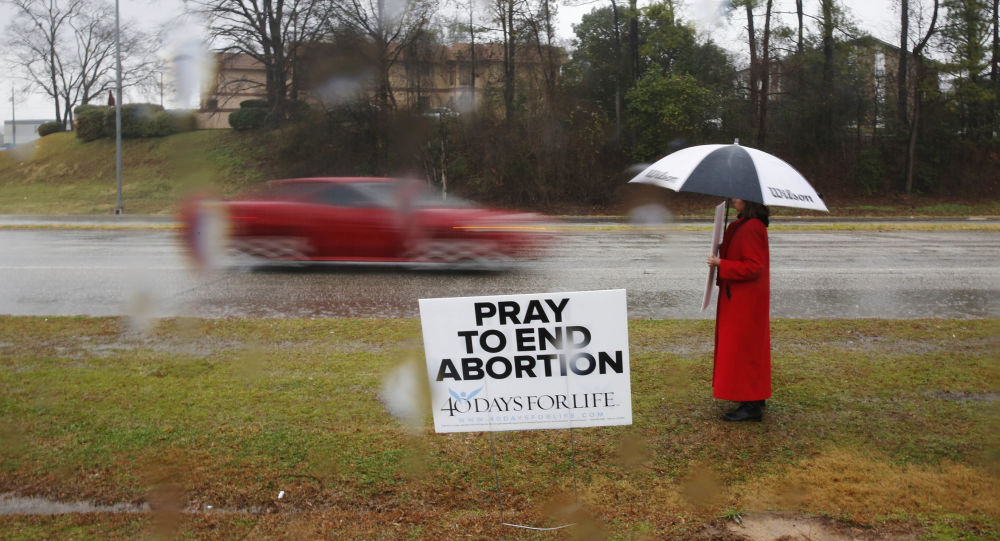 Protest przeciwko aborcji w Alabamie, USA