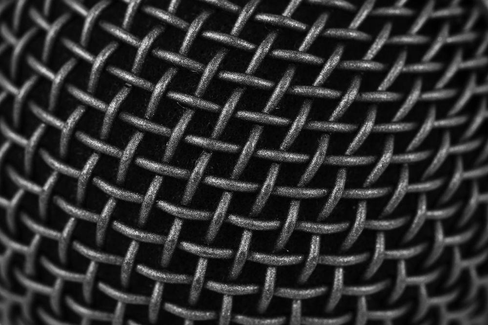 Tekstura mikrofonu.