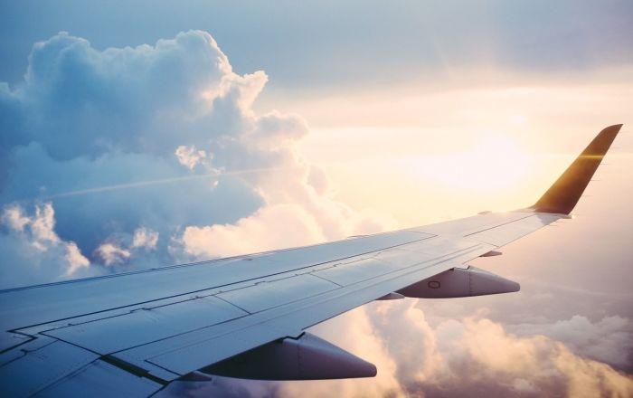 Widok z okna samolotu.
