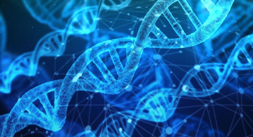 Artystyczny obraz cząsteczek DNA.