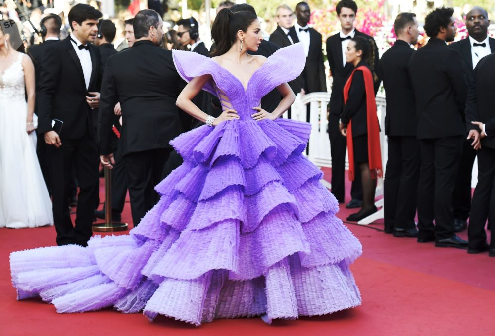 Modelka Sririta Jensen na czerwonym dywanie 72. Międzynarodowego Festiwalu Filmowego w Cannes.