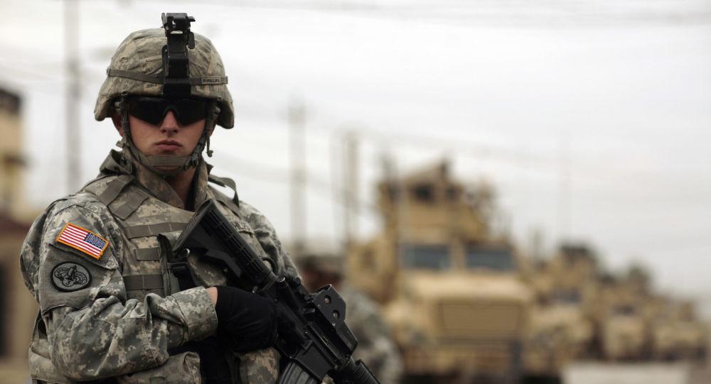 Żołnierz amerykańskiej armii w Iraku