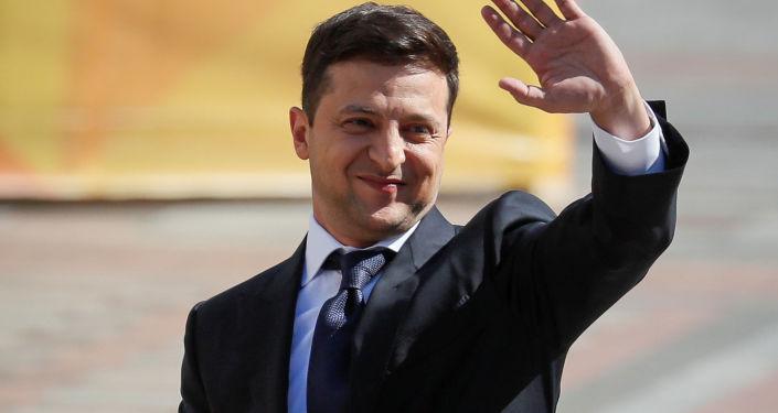 Wołodymyr Zełenski przed inauguracją
