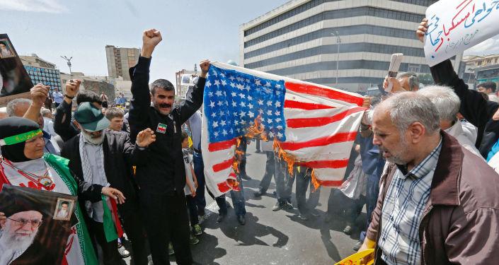 Antyamerykańska demonstracja w centrum Teheranu