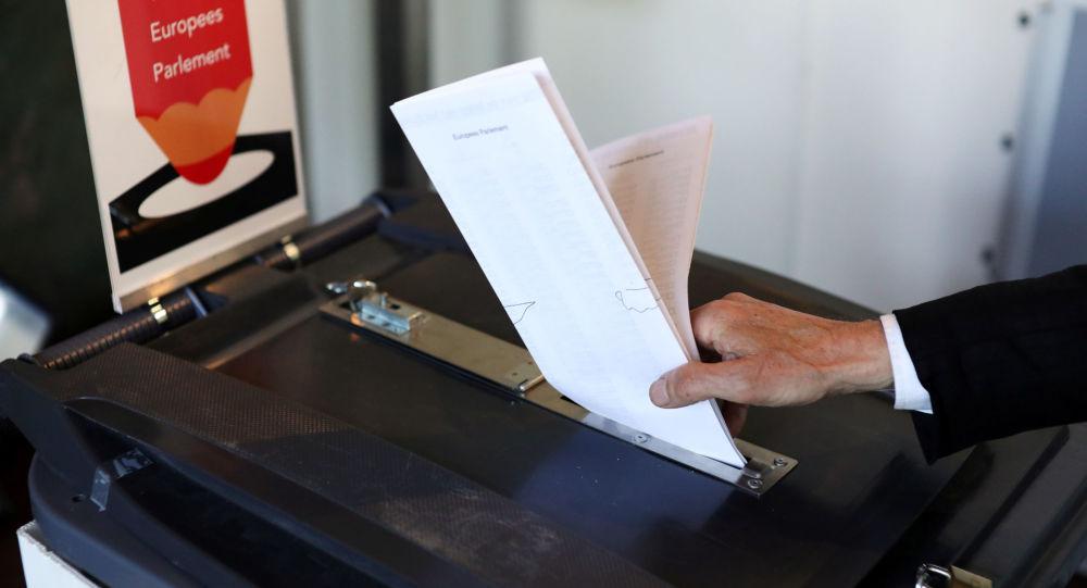 Głosowanie w wyborach do Parlamentu Europejskiego w Amsterdamie w Holandii