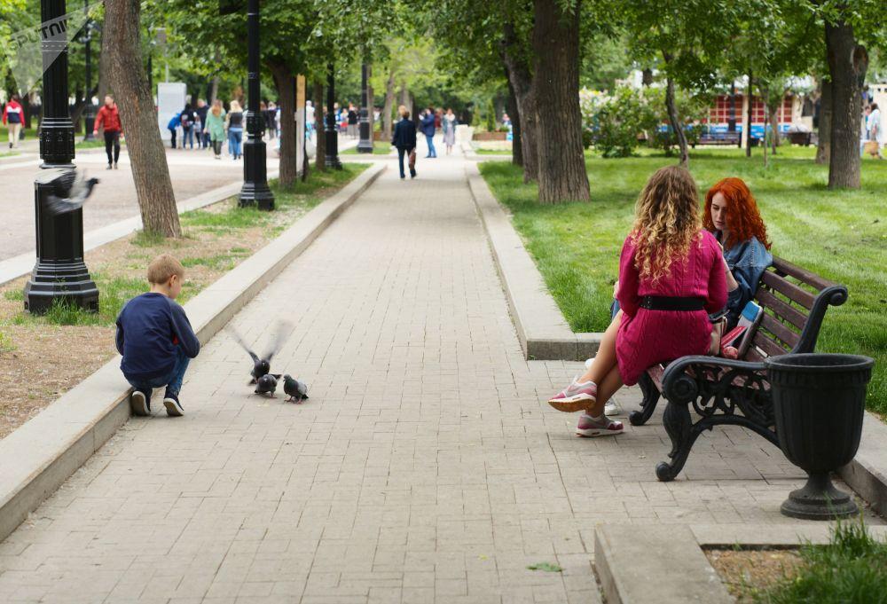 Bulwar Twierskoj w centrum Moskwy