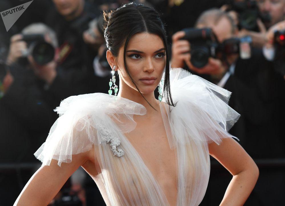 Modelka Kendall Jenner na 71. Festiwalu Filmowym w Cannes