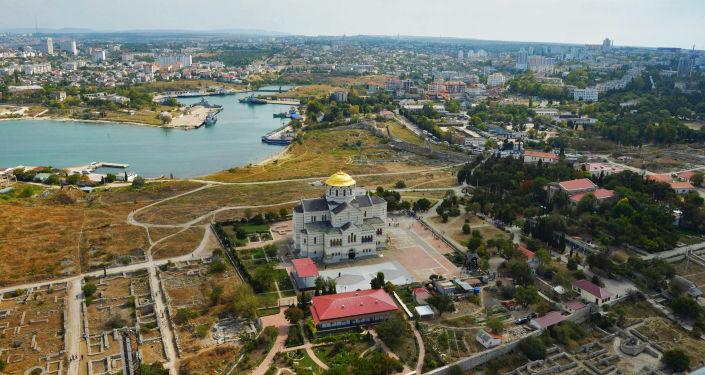 Widok na miasto Chersoń na Krymie