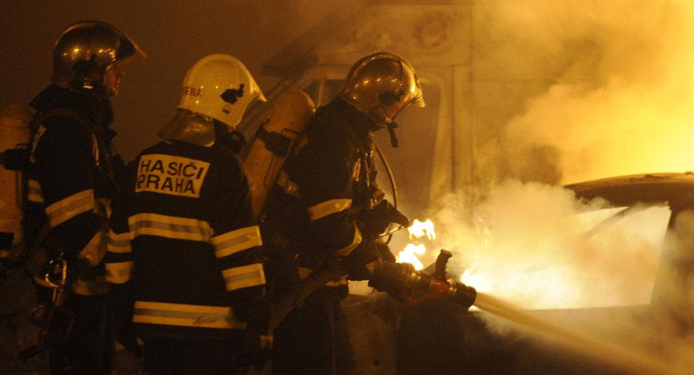 Czescy strażacy, archiwalne zdjęcie
