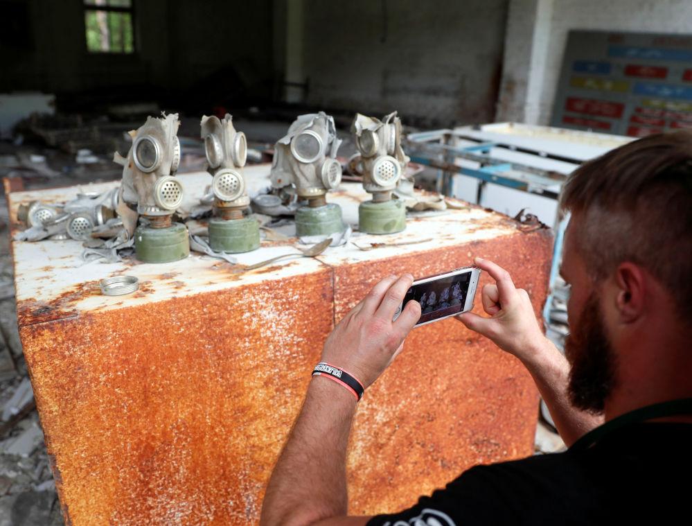 Maski gazowe z Czarnobylskiej Elektrowni Jądrowej