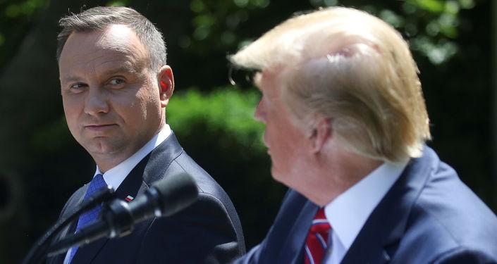 Prezydenci Andrzej Duda i Donald Trump w Waszyngtonie