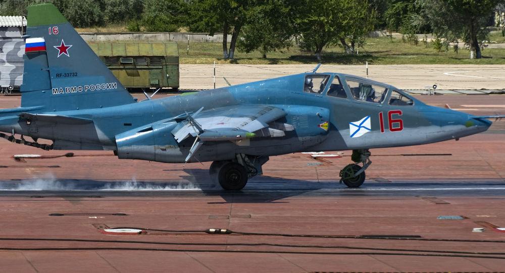 """Ośrodek treningowy dla pilotów samolotów pokładowych """"NITKA"""", samolot Su-25UTG (Krym, Rosja)"""