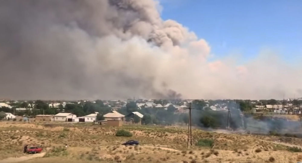 Eksplozja i pożar w magazynie wojskowym w Kazachstanie
