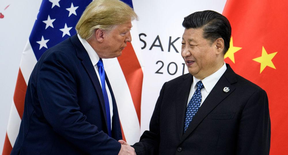 Prezydent USA Donald Trump i przewodniczący Chin Xi Jinping