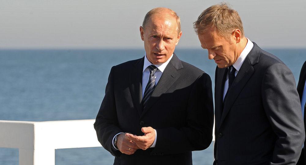 Władimir Putin i Donald Tusk podczas spotkania w Sopocie we wrześniu 2009 roku