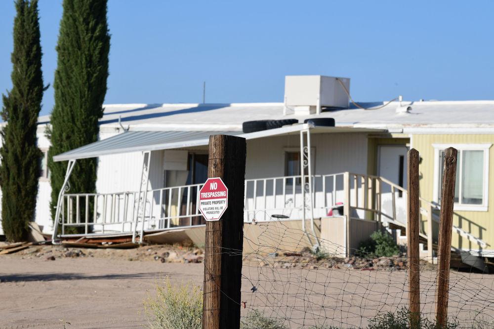 Dom w Ridgecrest zniszczony w wyniku najsilniejszego od 25 lat trzęsienia ziemi w Kalifornii.
