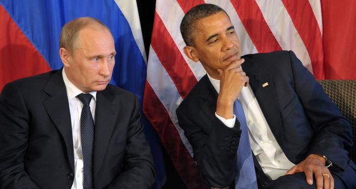 Prezydent FR Władimir Putin i prezydent USA Barack Obama