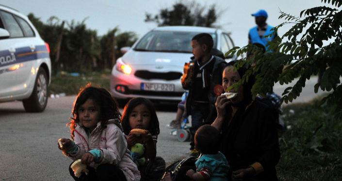 Uchodźcy na serbsko-chorwackiej granicy
