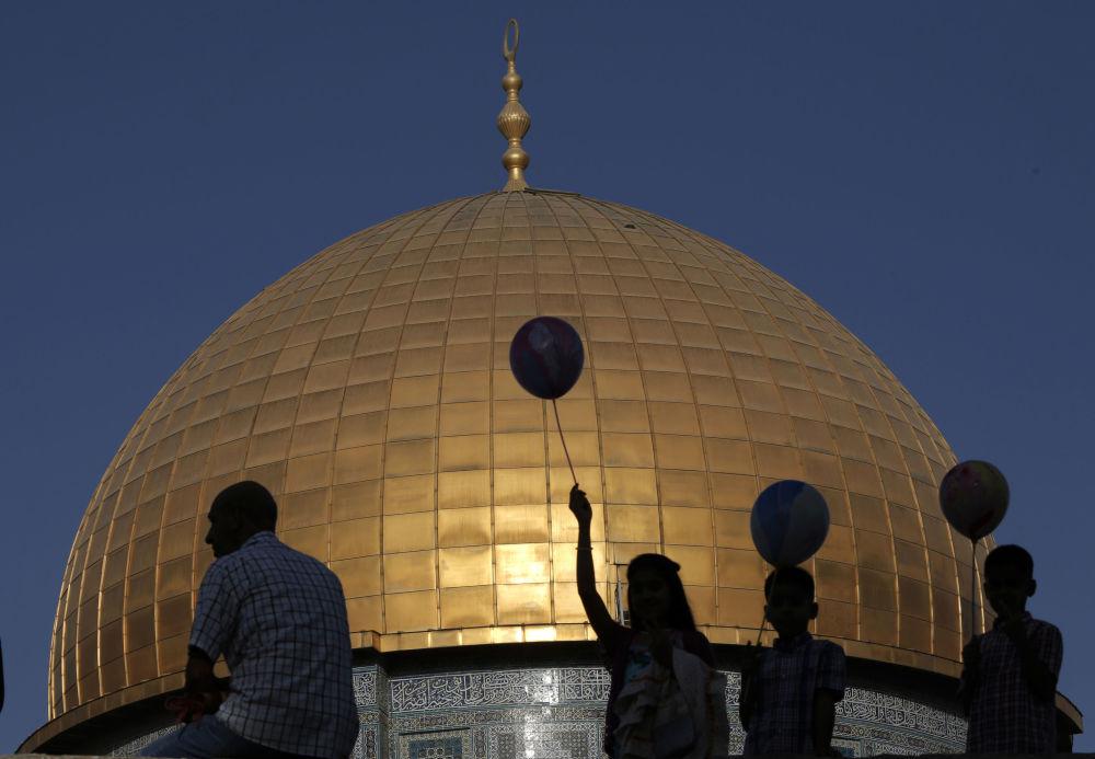Kopuła na Skale na Wzgórzu Świątynnym w Jerozolimie