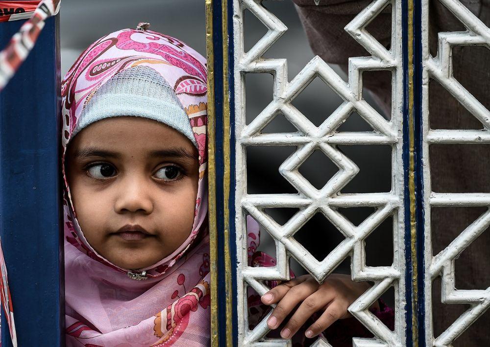 Muzułmańska dziewczynka podczas obchodów Id al-Adha w Malezji