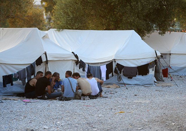 Obóz dla uchodźców na greckiej wyspie Lesbos