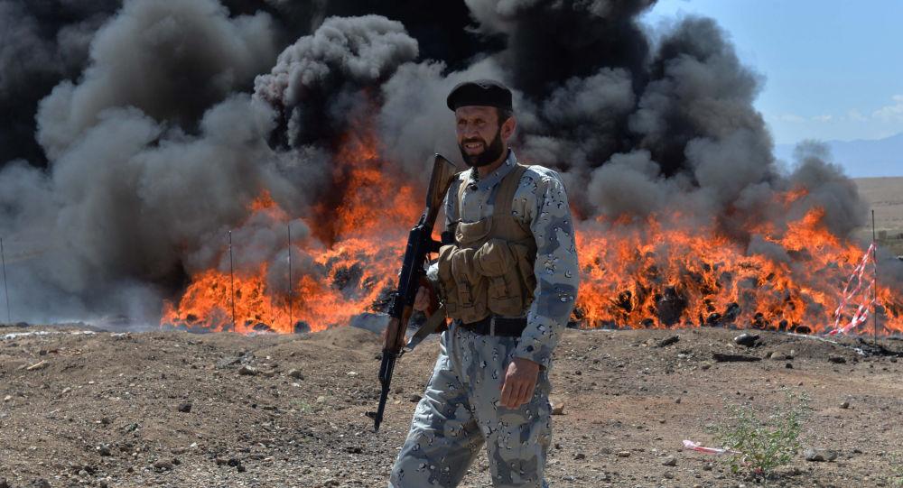 Utylizacja narkotyków w Afganistanie