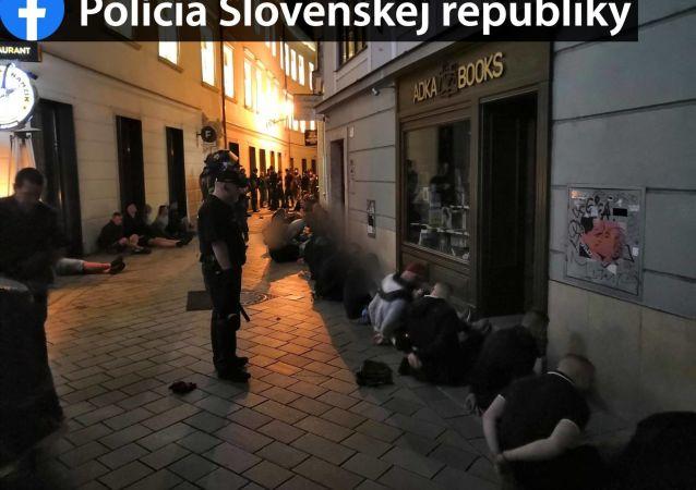 Masowa bójka w Bratysławie