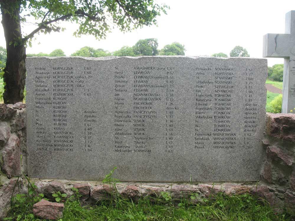 Pomnik Polaków zamordowanych na Wołyniu.