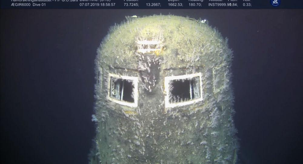 """Radziecki atomowy okręt podwodny K-278 """"Komsomolec"""" zatopiony w 1989 roku na Morzu Norweskim"""