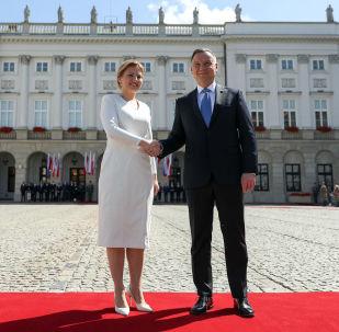 Spotkanie prezydent Słowacji Zuzany Czaputovej z prezydentem Polski Andrzejem Dudą