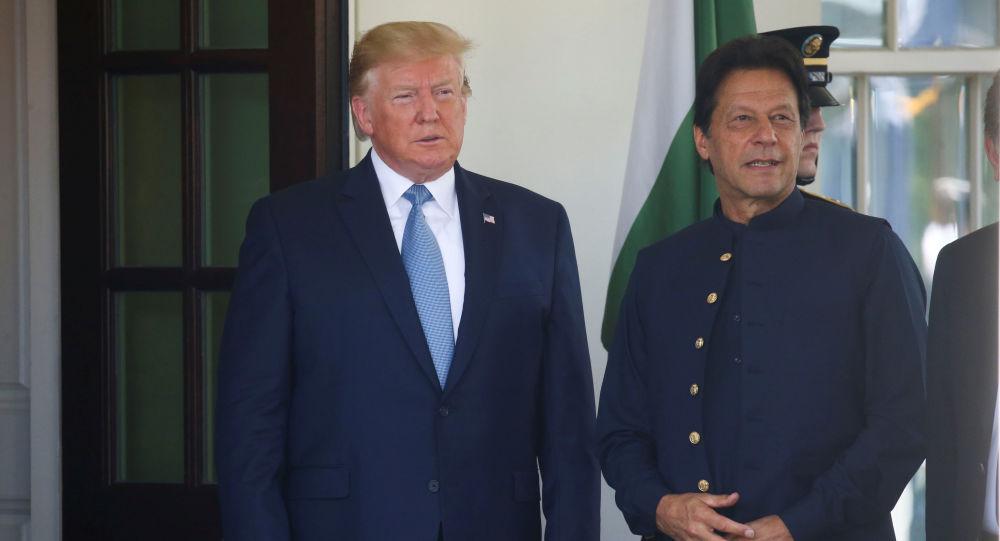 Prezydent USA Donald Trump i premier Pakistanu Imran Han