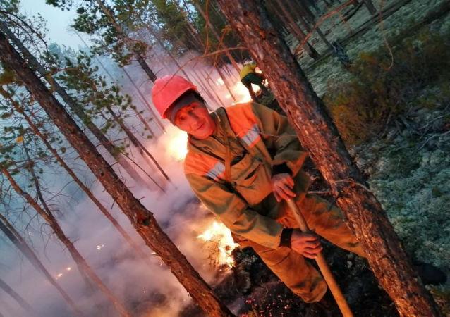 Pożary lasów na Syberii