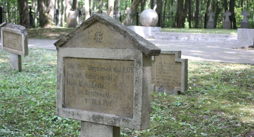 Polskie groby na cmentarzu niemieckich żołnierzy poległych w I wś
