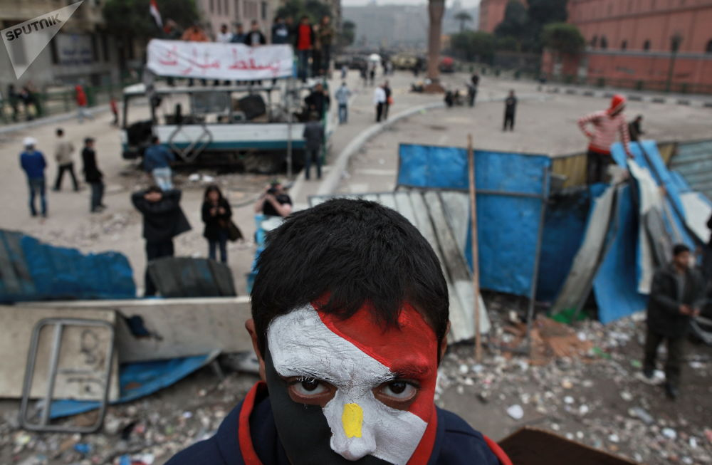 Protesty na placu Tahrir w Kairze
