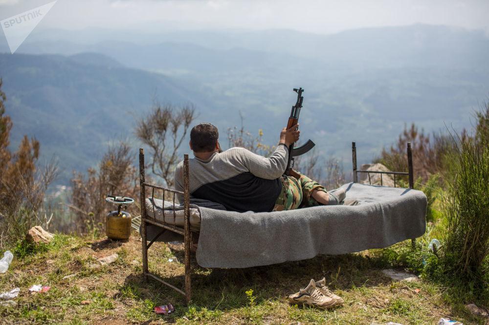 Odpoczynek syryjskiego żołnierza