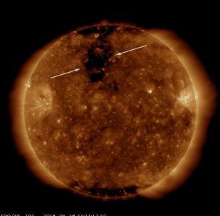 Dziura koronalna na Słońcu