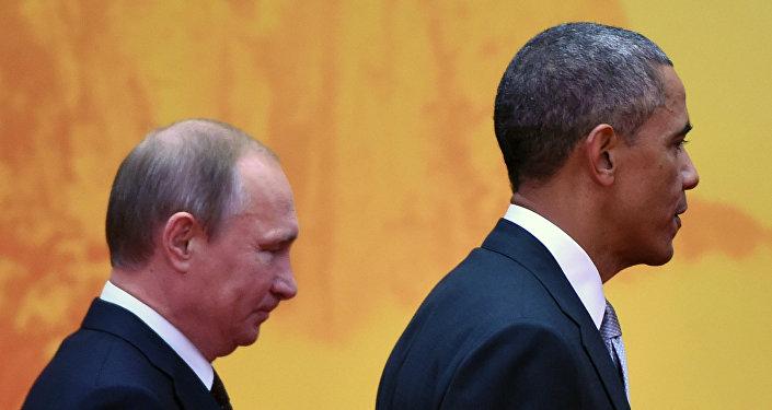 Prezydent Stanów Zjednoczonych Barack Obama i prezydent Rosji Władimir Putin
