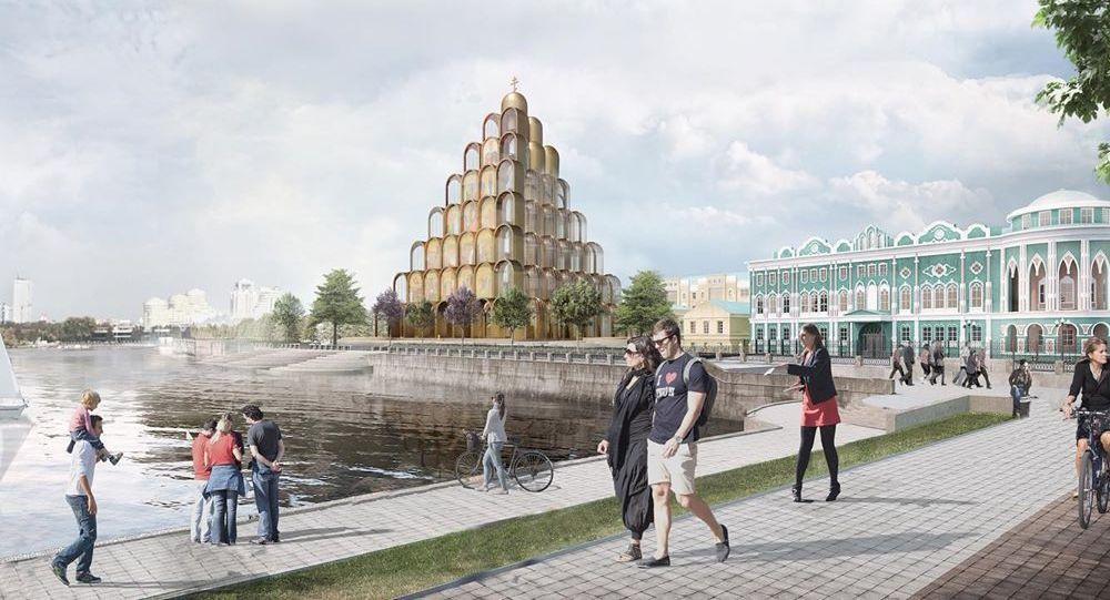 Futurystyczny projekt cerkwi św. Katarzyny
