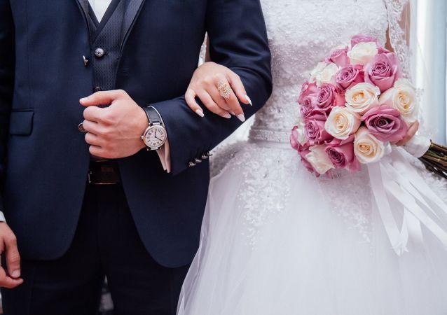 Nowożeńcy.