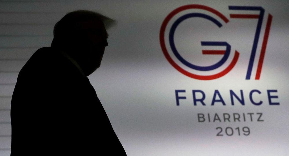 Prezydent USA Donald Trump na szczycie G7 w Biarritz