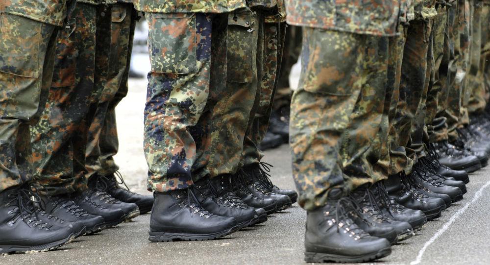 Buty żołnierzy niemieckiej armii