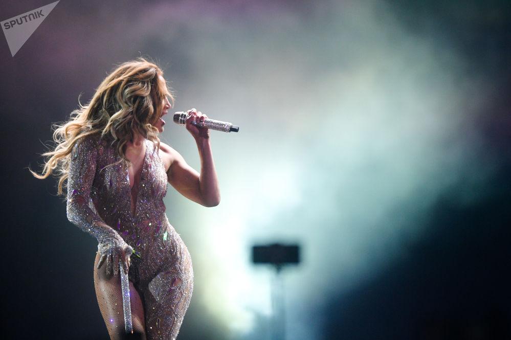 Koncert Jennifer Lopez w Moskwie.