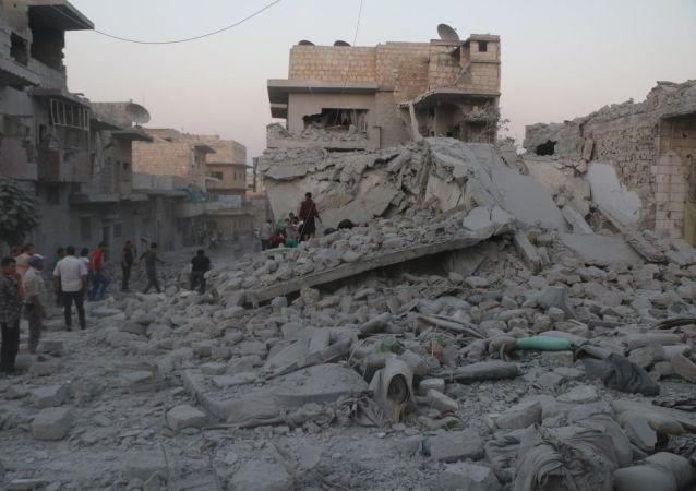 Zniszczenia w Idlib, Syria